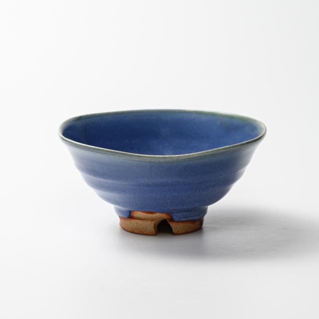 萩焼(伝統的工芸品)抹茶碗上青釉平