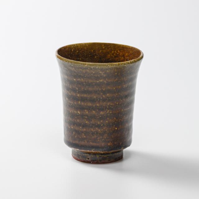 萩焼(伝統的工芸品)タンブラー小飴釉端反