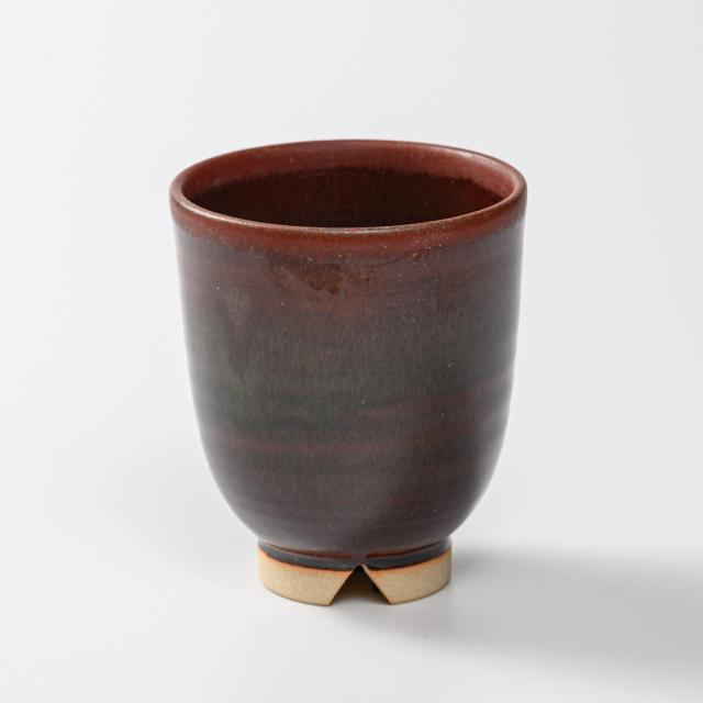 萩焼(伝統的工芸品)湯呑大鉄赤釉呉器No50