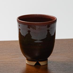 萩焼(伝統的工芸品)湯呑大鉄赤釉呉器