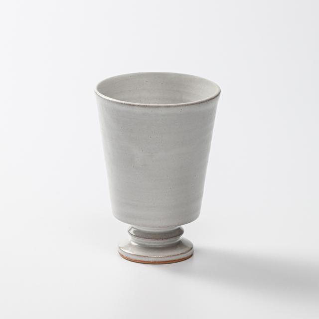 萩焼(伝統的工芸品)タンブラー小白萩筒足付No5167