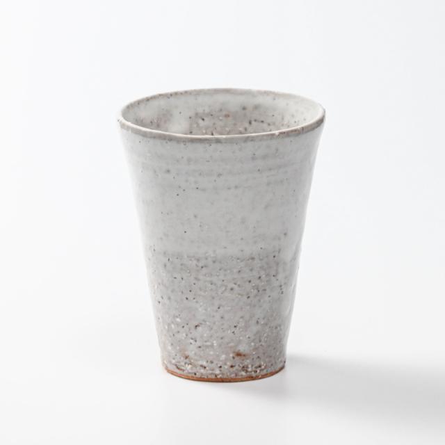 萩焼(伝統的工芸品)タンブラー大白萩筒碁笥底