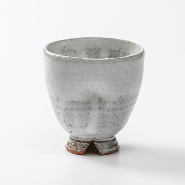 萩焼(伝統的工芸品)フリーカップ白萩呉器えくぼNo5169