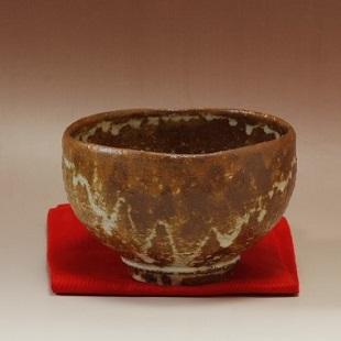 萩焼(伝統的工芸品)抹茶碗灰釉碗形