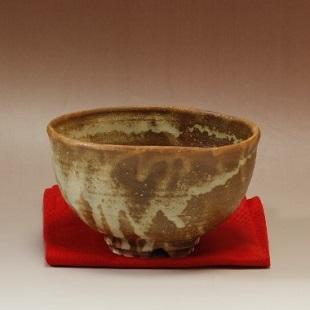 萩焼(伝統的工芸品)抹茶碗灰釉半筒