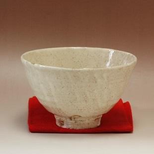 萩焼(伝統的工芸品)抹茶碗大粉引井戸形