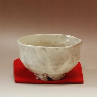 萩焼(伝統的工芸品)抹茶碗粉引胴締割高台