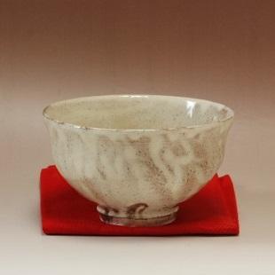 萩焼(伝統的工芸品)抹茶碗粉引柿のへた