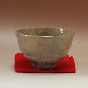 萩焼(伝統的工芸品)抹茶碗上化粧荒井戸形