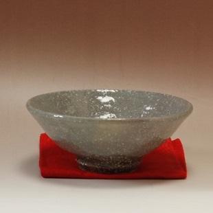 萩焼(伝統的工芸品)抹茶碗上化粧荒平