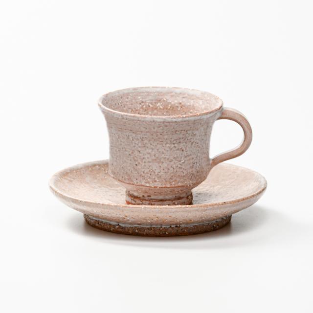 萩焼(伝統的工芸品)カップ&ソーサ鬼萩端反
