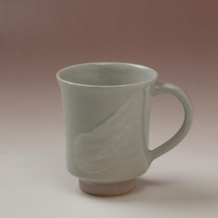 萩焼(伝統的工芸品)マグカップ刷毛姫端反
