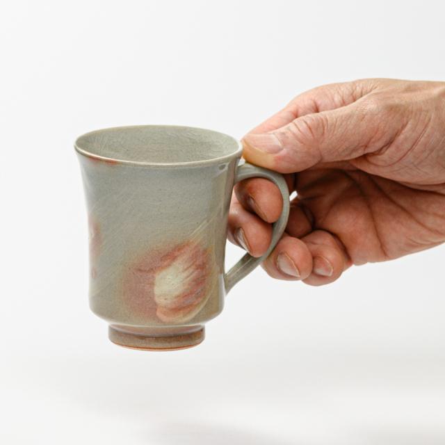 萩焼(伝統的工芸品)マグカップ小刷毛姫端反No561