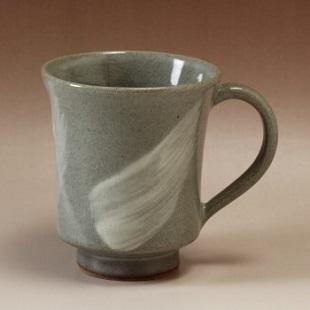 萩焼(伝統的工芸品)マグカップ刷毛青端反