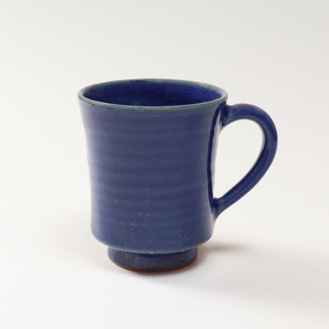 萩焼(伝統的工芸品)マグカップ小藍釉端反No566