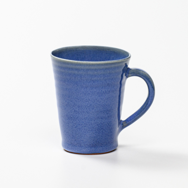 萩焼(伝統的工芸品)マグカップ小透青釉末広碁笥底No567