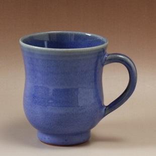 萩焼(伝統的工芸品)マグカップ透青釉胴締