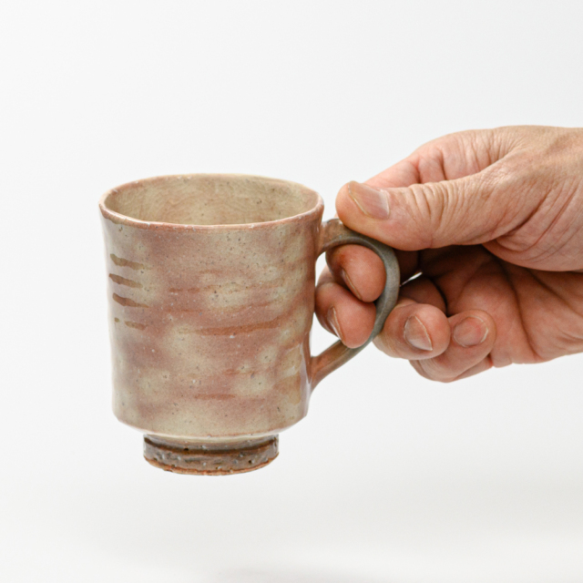 萩焼(伝統的工芸品)マグカップ小御本手筒No570