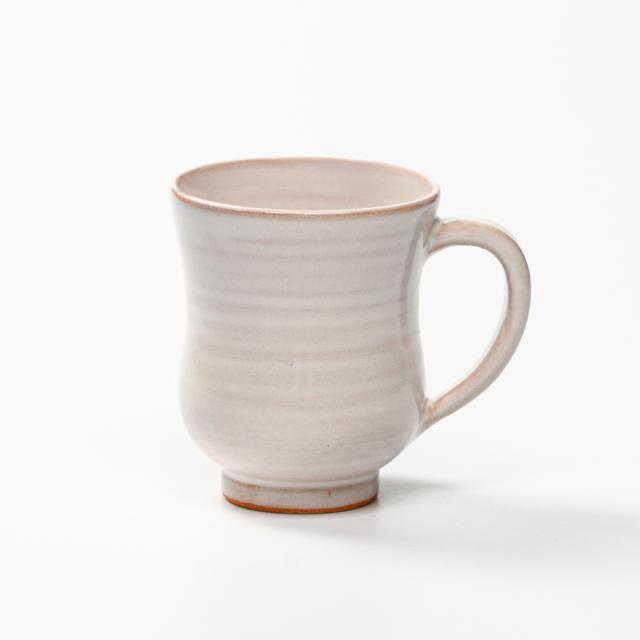 萩焼(伝統的工芸品)マグカップ白姫胴締