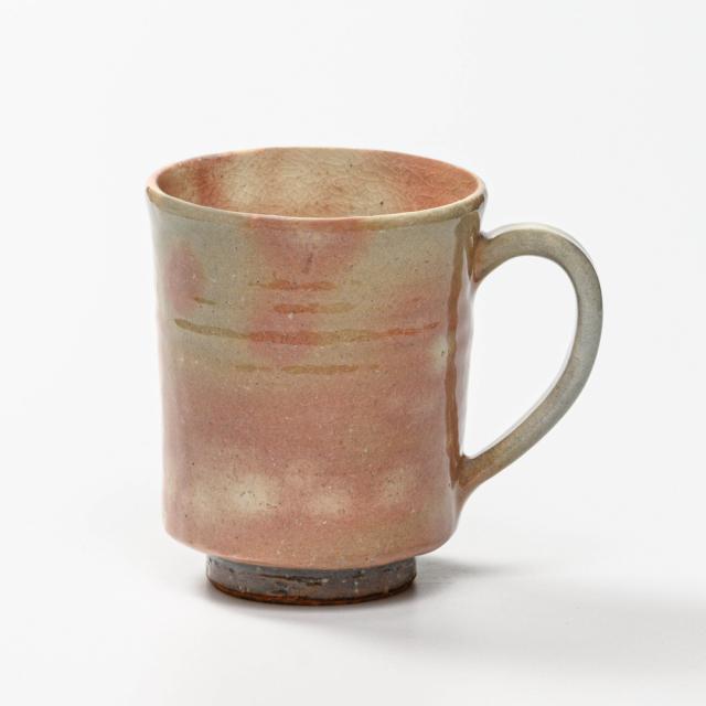 萩焼(伝統的工芸品)マグカップ大御本手筒No603