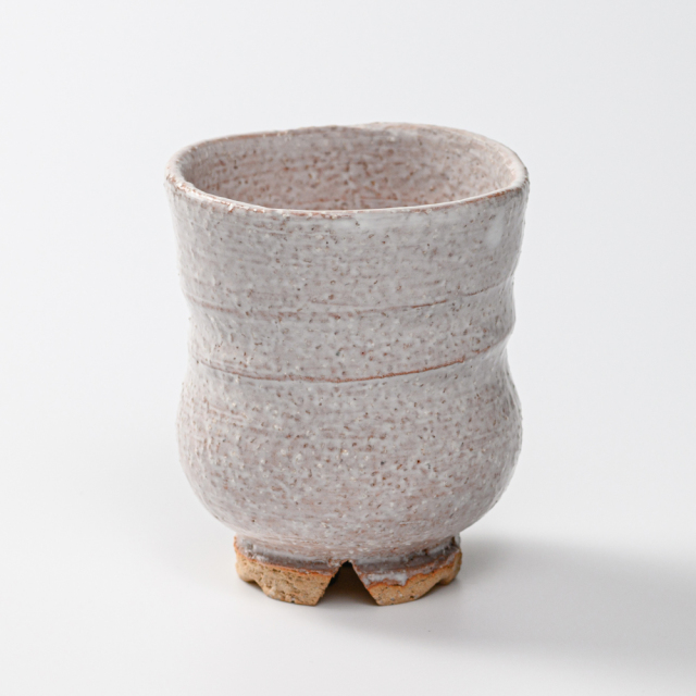萩焼(伝統的工芸品)湯呑大鬼萩胴締No62