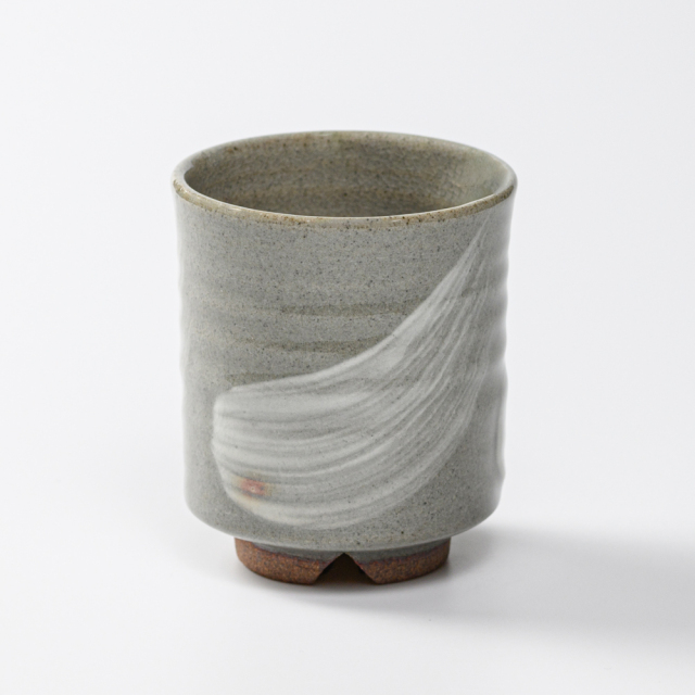 萩焼(伝統的工芸品)湯呑刷毛青筒