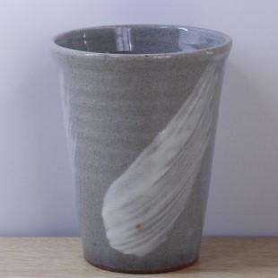 萩焼(伝統的工芸品)タンブラー刷毛青筒碁笥底