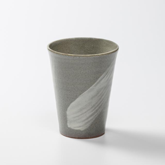 萩焼(伝統的工芸品)タンブラー小刷毛青筒碁笥底