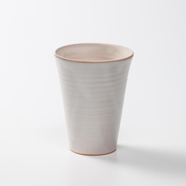 萩焼(伝統的工芸品)タンブラー小白姫筒碁笥底No709