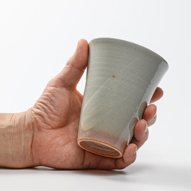 萩焼(伝統的工芸品)タンブラー大刷毛姫筒碁笥底