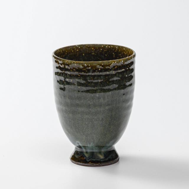 萩焼(伝統的工芸品)タンブラー大鉄青釉呉器撥高台