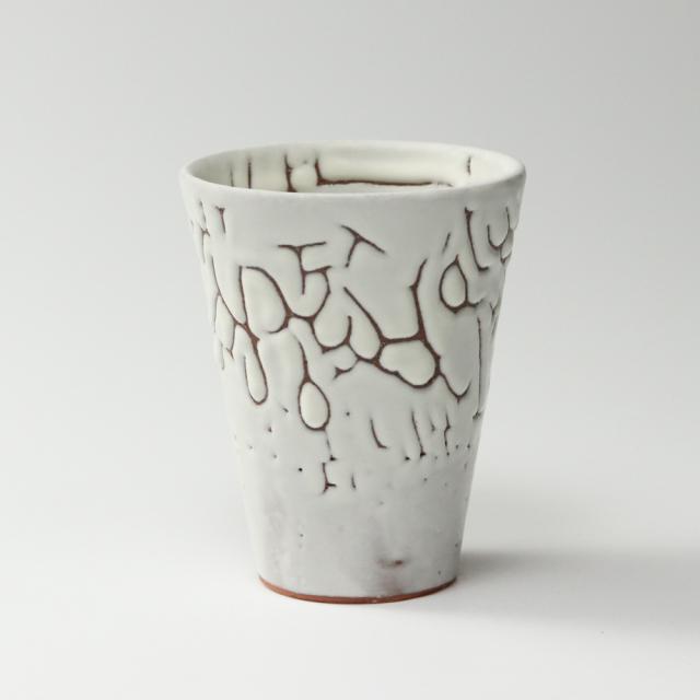 萩焼(伝統的工芸品)タンブラー大鬼白松筒