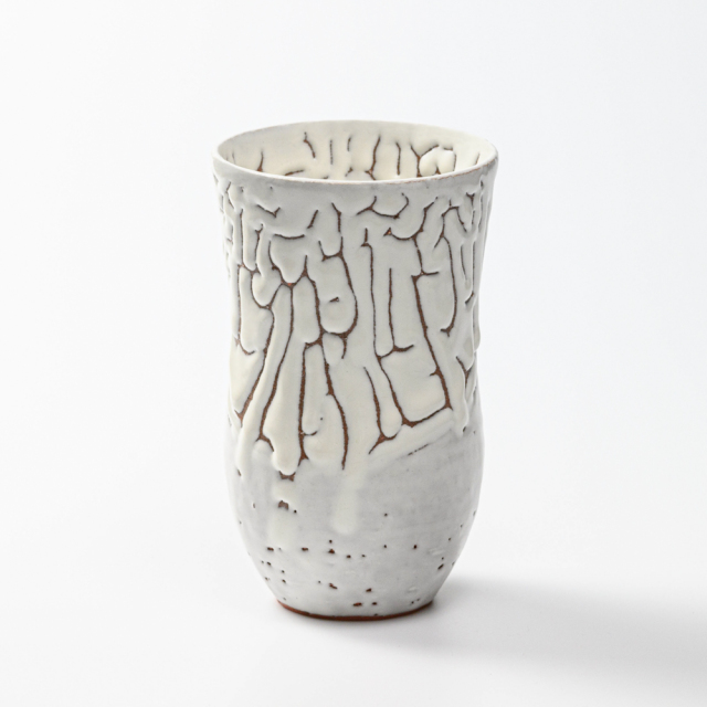 萩焼(伝統的工芸品)タンブラー特大鬼白松胴締碁笥底