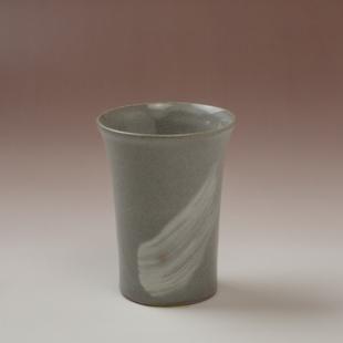 萩焼(伝統的工芸品)ミニタンブラー刷毛青端反碁笥底