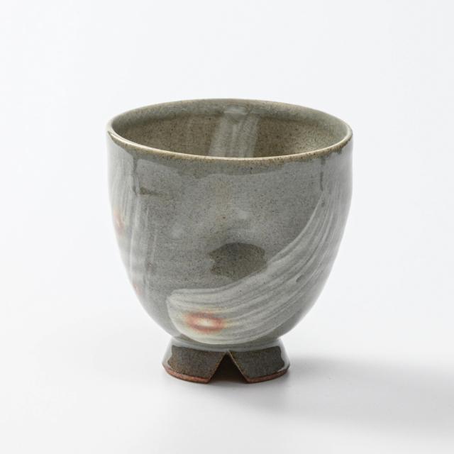 萩焼(伝統的工芸品)フリーカップ刷毛青呉器えくぼNo762