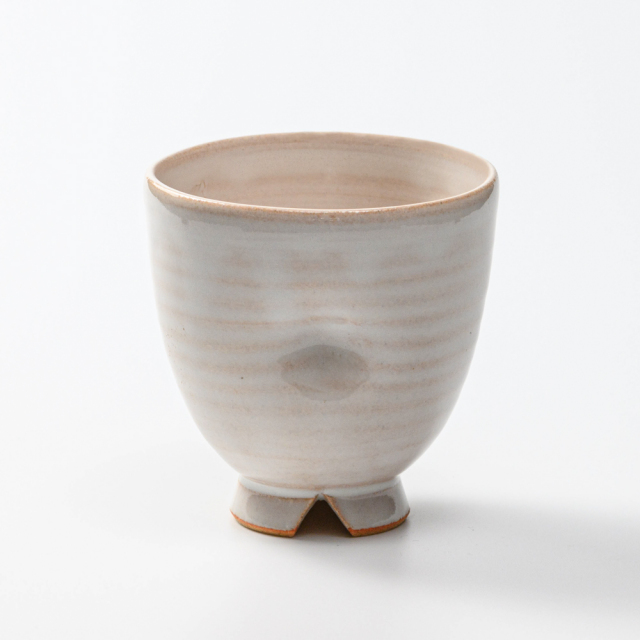 萩焼(伝統的工芸品)フリーカップ白姫呉器えくぼ