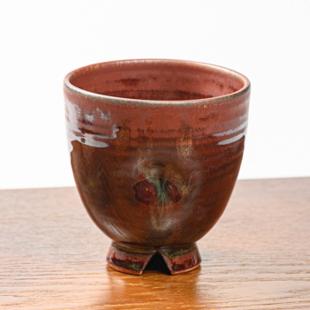 萩焼(伝統的工芸品)フリーカップ鉄赤釉呉器えくぼ