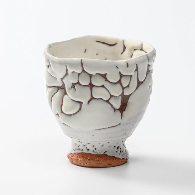 萩焼(伝統的工芸品)フリーカップ鬼白特呉器えくぼNo767