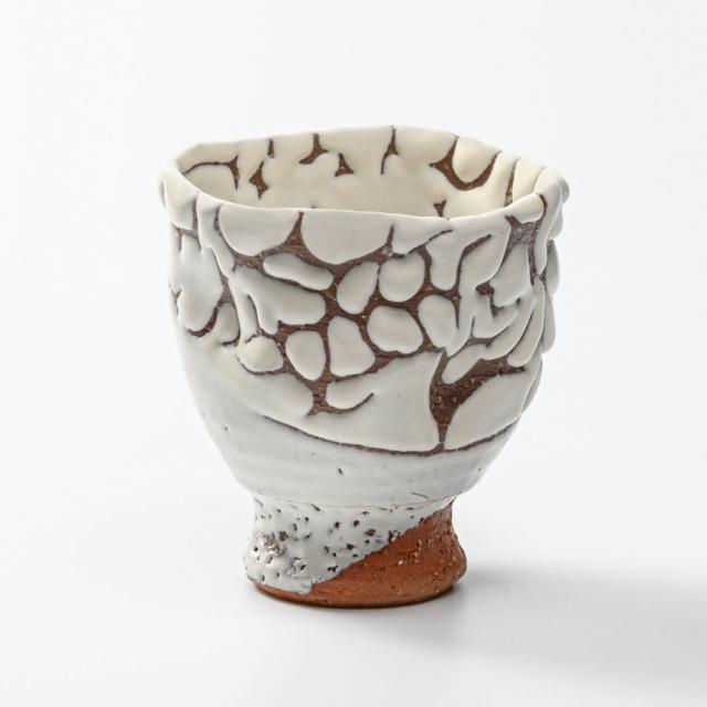 萩焼(伝統的工芸品)フリーカップ鬼白松呉器えくぼ