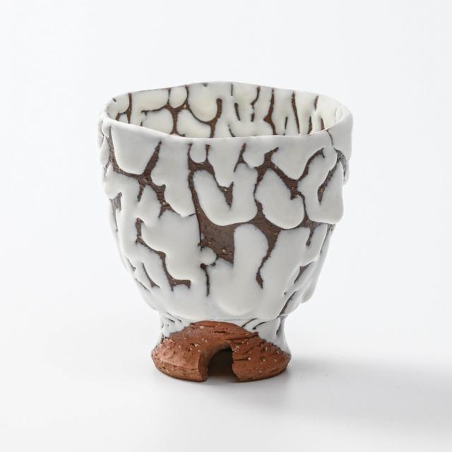萩焼(伝統的工芸品)フリーカップ鬼白松呉器ヘラメNo770