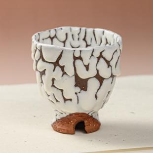 萩焼(伝統的工芸品)フリーカップ鬼白松呉器ヘラメ