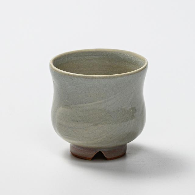 萩焼(伝統的工芸品)ぐい呑刷毛姫胴締