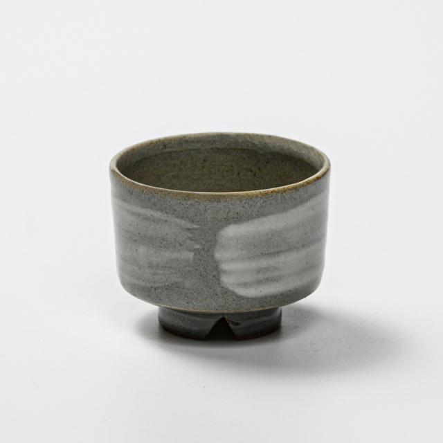 萩焼(伝統的工芸品)ぐい呑刷毛青筒No803