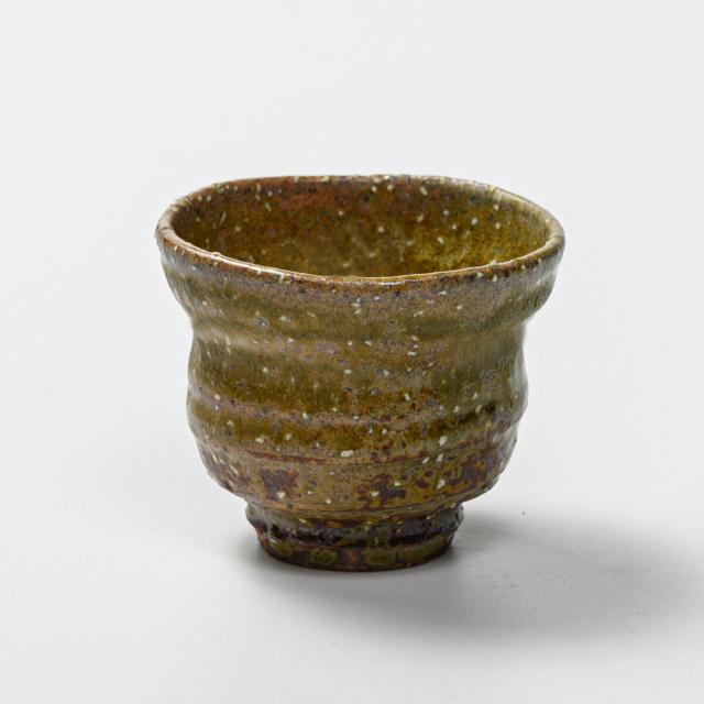 萩焼(伝統的工芸品)ぐい呑緑釉ひさごNo805