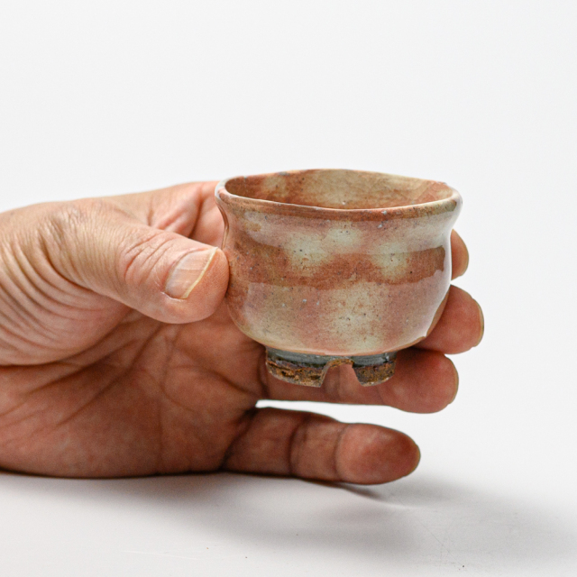 萩焼(伝統的工芸品)ぐい呑御本手丸No807