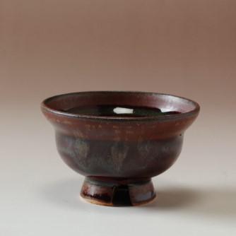 萩焼(伝統的工芸品)ぐい呑鉄赤釉ひさご