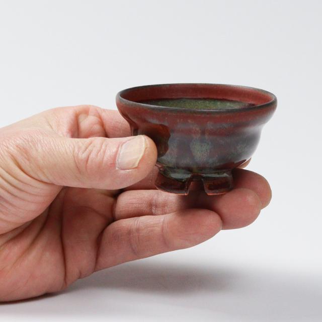 萩焼(伝統的工芸品)ぐい呑鉄赤釉ひさごNo816