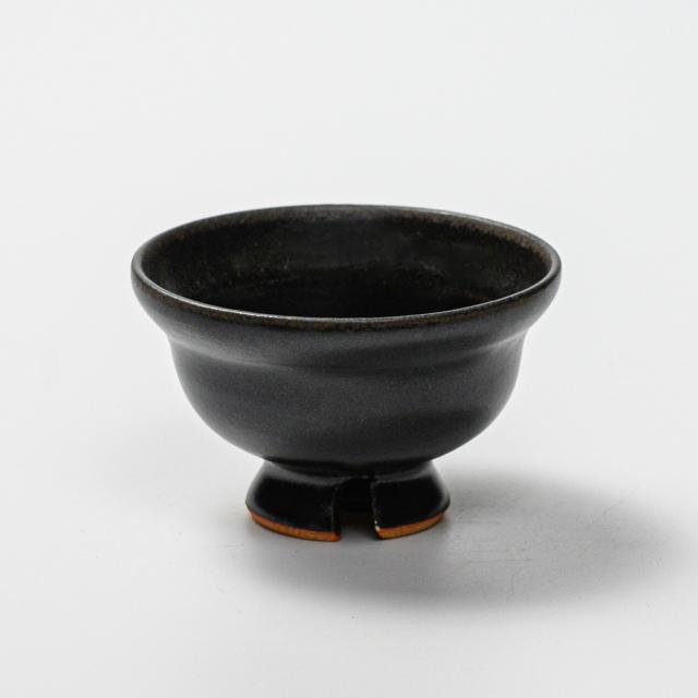 萩焼(伝統的工芸品)ぐい呑黒釉ひさご