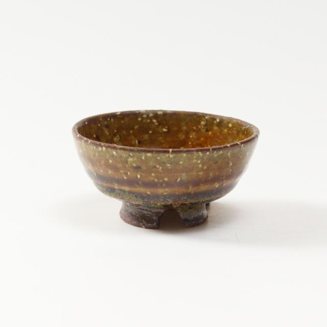 萩焼(伝統的工芸品)盃鉄釉丸No871