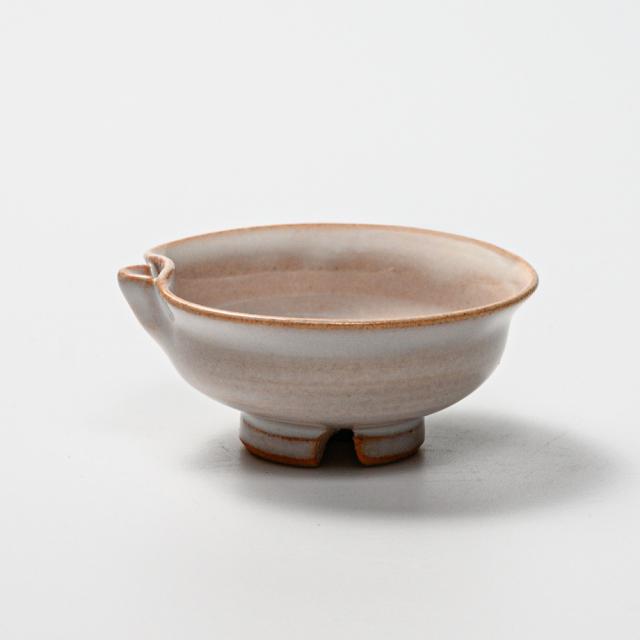 萩焼(伝統的工芸品)盃白姫朝顔片口No872